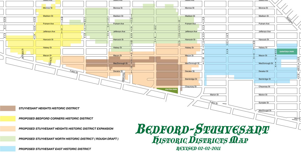 Bed-Stuy Historic Districts Proposal Map